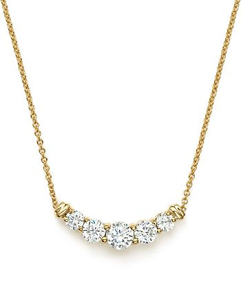 Bloomingdale's - Diamond Graduated Pendant Necklace in 14K Yellow Gold, .50 ct. t.w. - 100% Exclusive