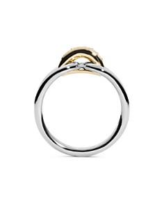 Shinola - 14K Yellow Gold & Sterling Silver Diamond Lug Ring