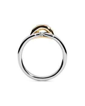 Shinola - 14K Yellow Gold & Sterling Silver Diamond Lug Ring
