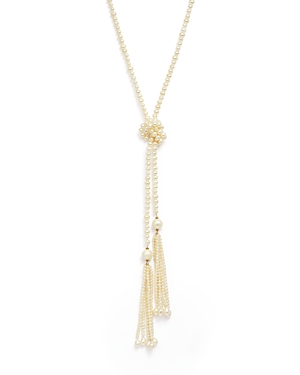 Bloomingdale's 14K Yellow Gold Cultured Freshwater Pearl Lariat Tassel Necklace, 45 - 100% Exclusive