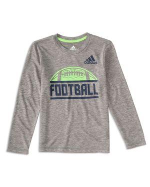 Adidas Boys' Long-Sleeve Football Tee - Little Kid thumbnail