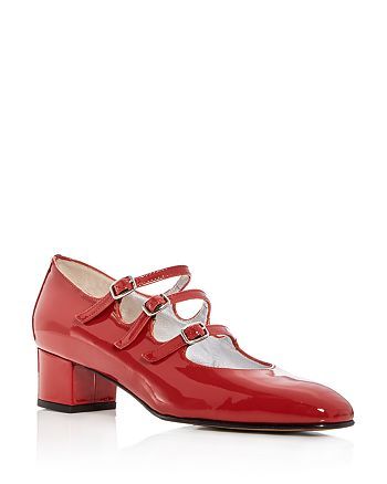 Carel - Women's Kina Patent Leather Mary Jane Block Heel Pumps