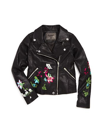 BLANKNYC - Girls' Embroidered Moto Jacket - Big Kid
