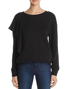 Splendid Asymmetric Ruffle Sweatshirt
