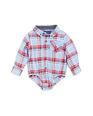 Andy  Evan Boys Plaid Flannel Shirtzie Bodysuit  Baby
