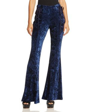 Band of Gypsies Crushed Velvet Flare Pants