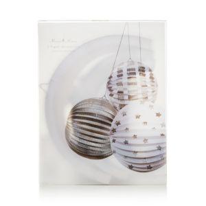 Meri Meri Silver Foil Paper Globes, Pack of 3
