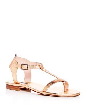 Sjp by Sarah Jessica Parker Women's Veronika Leather T-Strap Sandals