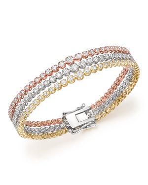 Bloomingdale's Diamond Graduated Triple Row Tennis Bracelet in 14K Gold, 4.0 ct. t.w. - 100% Exclusi