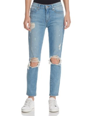 Devi Mid-Rise Authentic Skinny Jeans In Light Wash