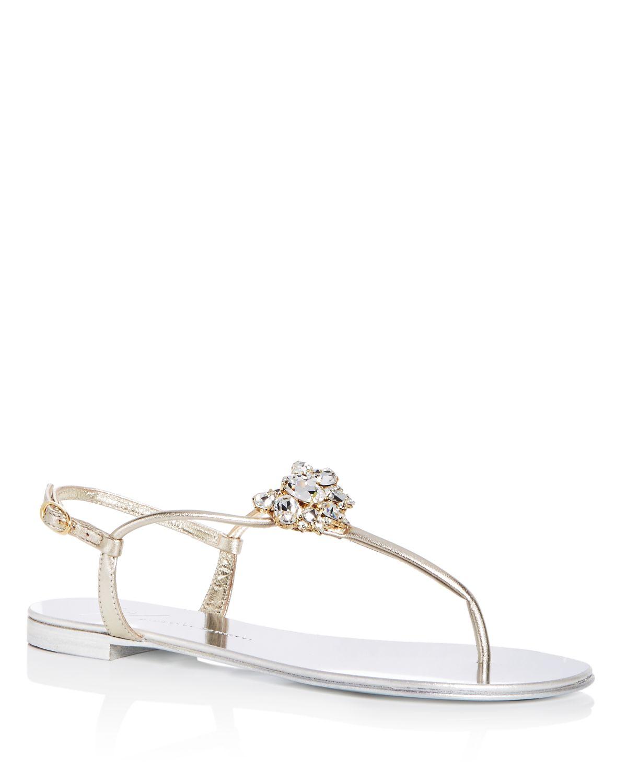 Giuseppe Zanotti Women's Nuvorock Swarovski Crystal Embellished Thong Sandals