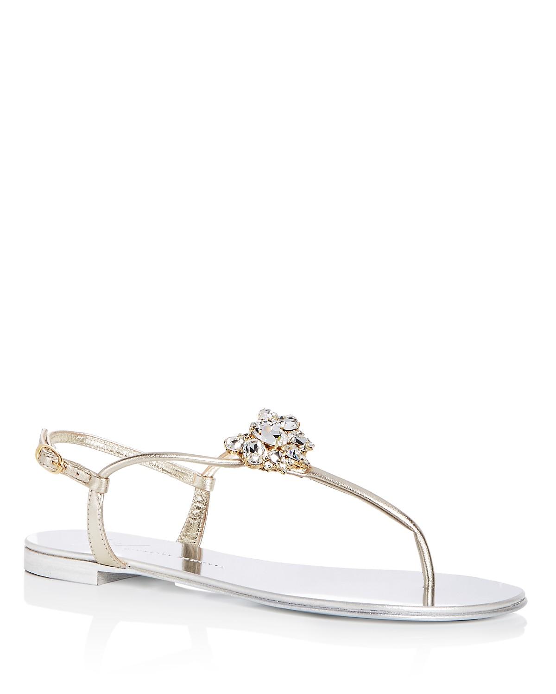 Giuseppe Zanotti Women's Nuvorock Swarovski Crystal Embellished Thong Sandals 6XJohyB