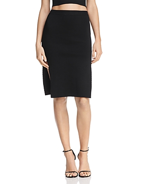 Olivaceous Slit Body-Con Skirt at Bloomingdale's
