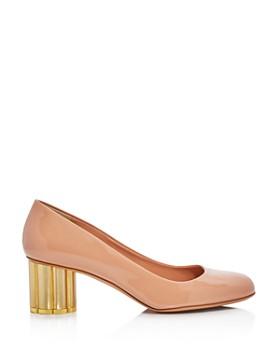 Salvatore Ferragamo - Women's Lucca Patent Leather Floral Heel Pumps