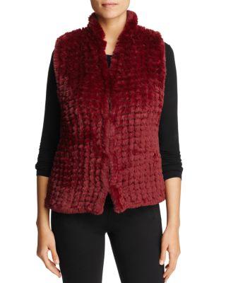 $Bagatelle Knit Faux-Fur Vest - Bloomingdale's