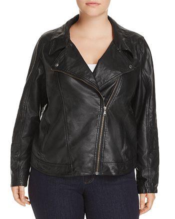 JUNAROSE Plus - Bast Faux Leather Motorcycle Jacket