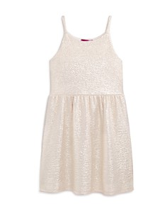 AQUA Girls' Glossy Textured Dress, Big Kid - 100% Exclusive - Bloomingdale's_0