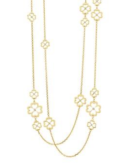 "Gumuchian - 18K Yellow Gold G Boutique Kelly Diamond Clover Station Necklace, 34"""