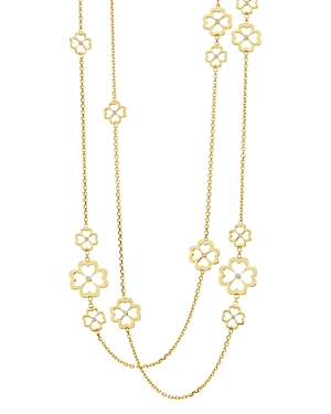 Gumuchian 18K Yellow Gold G Boutique Kelly Diamond Clover Station Necklace, 34