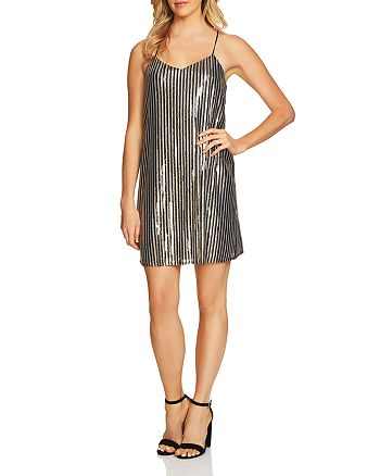 CeCe by Cynthia Steffe - Mia Striped Sequin Dress