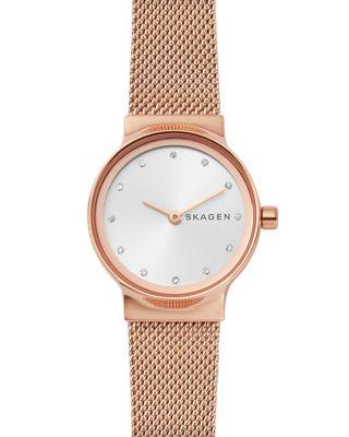 Women'S Freja Rose Gold-Tone Stainless Steel Bracelet Watch 26Mm, Silver/Rose