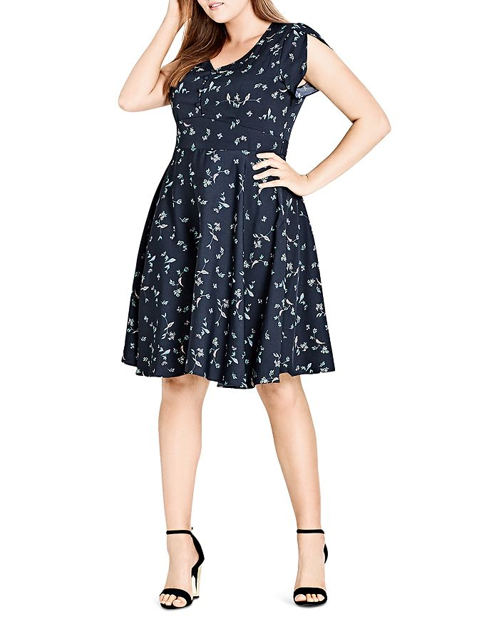 City Chic Plus - Sweet Tweet Floral Dress