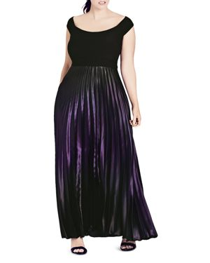 City Chic Passion Ombre Maxi Dress thumbnail