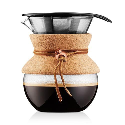 Bodum - 17oz Cork Pour Over Coffee Maker