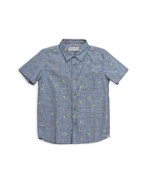 Sovereign Code Boys Circus Tent Chambray Shirt Little Kid  100 Exclusive