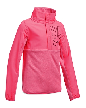 Under Armour Girls' Microfleece Zip-Up Jacket - Big Kid