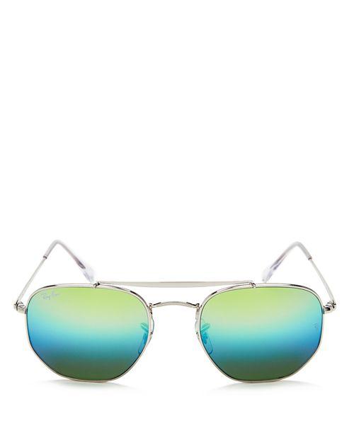 Ray-Ban - Unisex Marshal Mirrored Hexagonal Sunglasses, 54mm