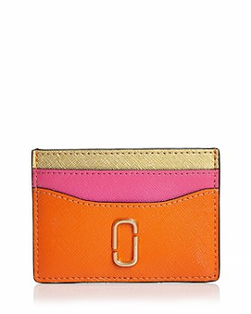 MARC JACOBS - Snapshot Color-Block Leather Card Case
