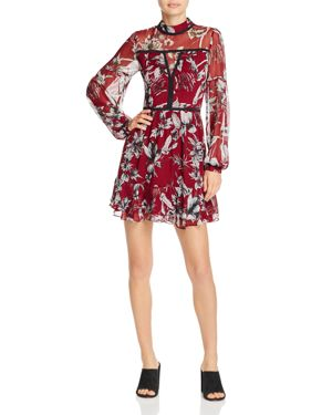 Parker Maje Floral-Print Silk Mini Dress