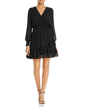 Michael Michael Kors Metallic Dot Smocked Dress