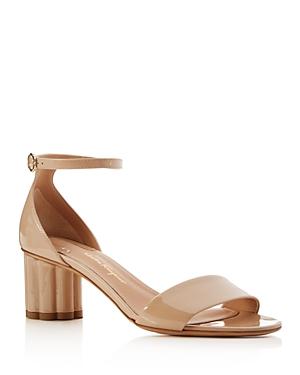 Salvatore Ferragamo Women's Patent Leather Mid Heel Sandals