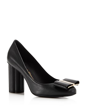 Salvatore Ferragamo - Women's Capua Leather Floral Heel Pumps