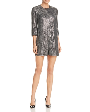 French Connection Desiree Disco Metallic Sparkle Romper