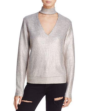 Bailey 44 - A-List Metallic Cutout Sweater