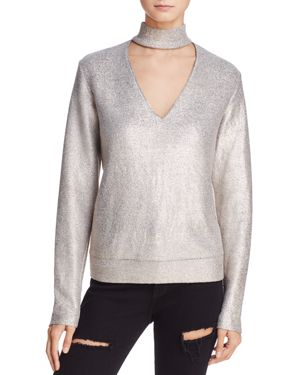 Bailey 44 A-List Metallic Cutout Sweater