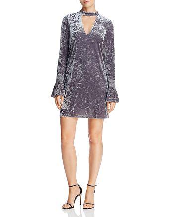 AQUA - Crushed Velvet Cutout Dress - 100% Exclusive