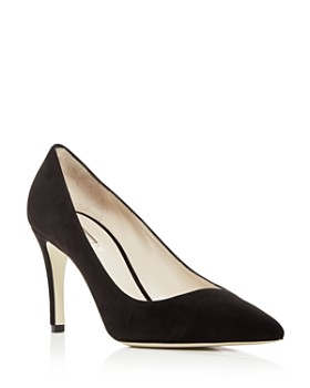 d68f7b8daa7 Armani - Women s Suede Pointed Toe Pumps ...