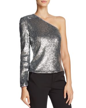 Bardot Sequined One-Shoulder Top