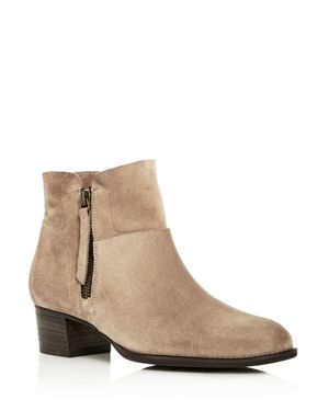 WOMEN'S PANDORA SUEDE BLOCK HEEL BOOTIES