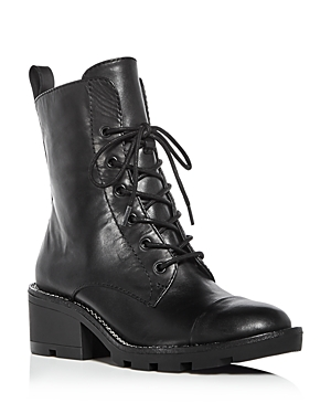 Kendall and Kylie Women's Park Leather Cap Toe Booties