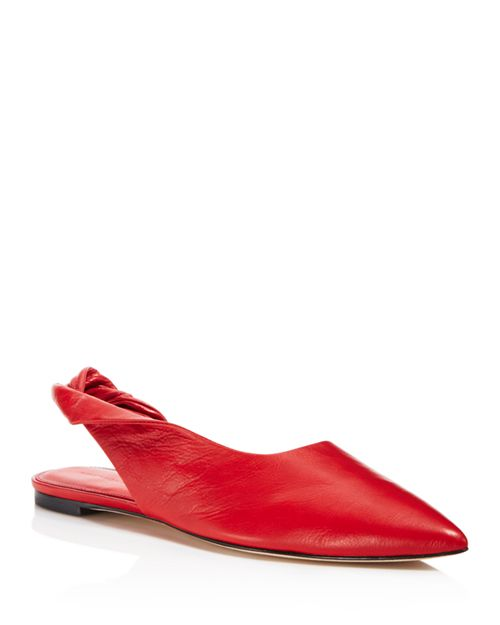 Sigerson Morrison - Women's Sham Leather Slingback Flats