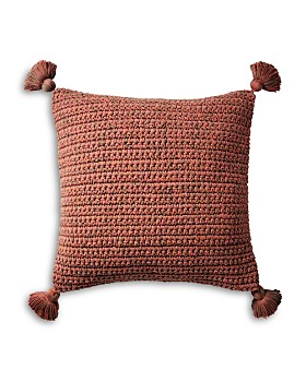 "Coyuchi - Organic Woven Tassel Decorative Pillow, 20"" x 26"""