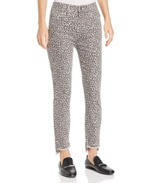 Current/Elliott The Super High Waist Jeans in Snow Leopard