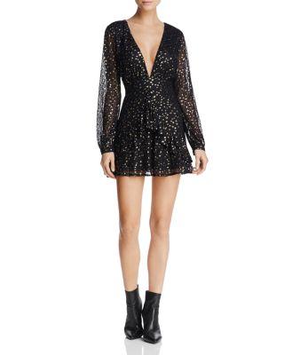 $Sadie & Sage Star Print Fit-and-Flare Dress - Bloomingdale's