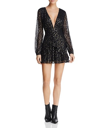 $Sadie & Sage Star Print Fit-and-Flare Dress - Bloomingdale's