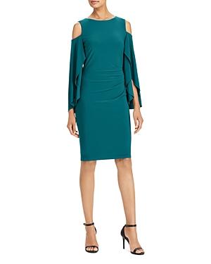 Lauren Ralph Lauren Cold-Shoulder Jersey Dress